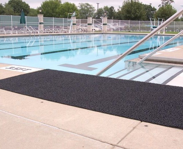 Duraloop Heavy Duty laid next to Pool Exit Stairs