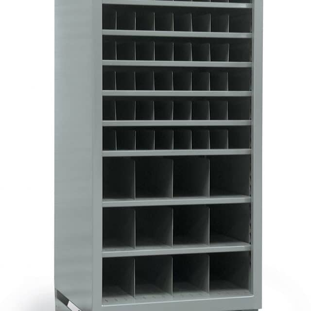 Metal Bin Storage Shelving Unit with 60 Openings