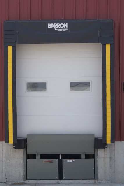 Vermeer Dock Seal with an Active Truck Restraint System
