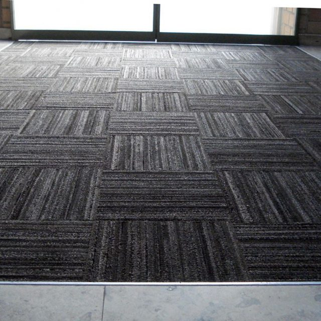 Dura-Tile Flooring Entrance Mat inset in Building Entrance