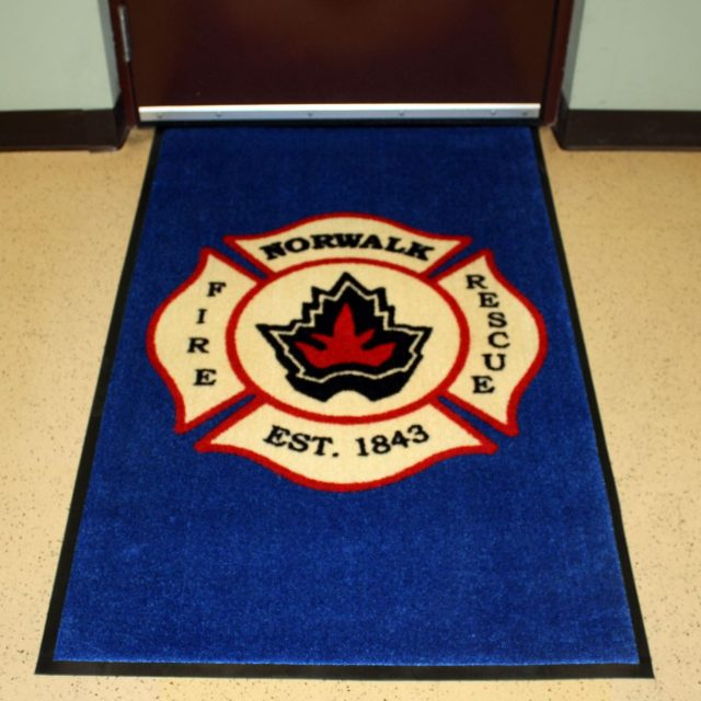 Nylon Carpet with Fire Department Logo