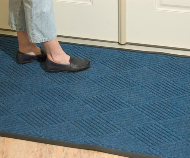 Ridgeway Blue Carpeting in front of closet