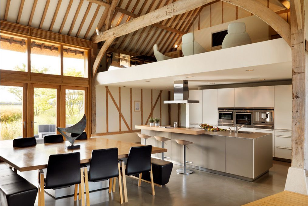 kitchen with mezzanine design