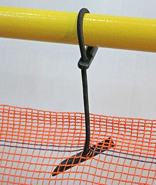 Debris Netting Bungee Clip in Use