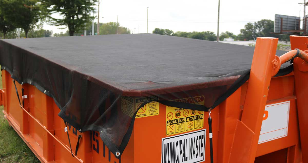 Dumpster Cover Perspective Left View