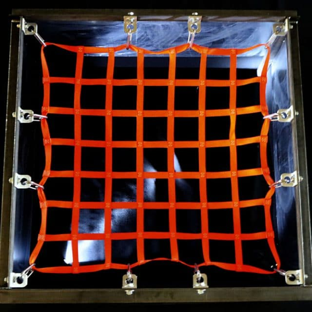 Square Hatch Safety Netting Top View