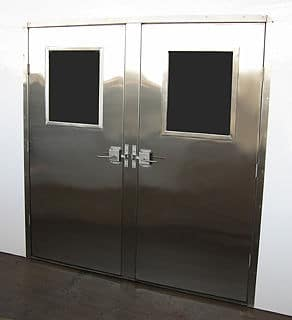 Stainless Steel Doors front view