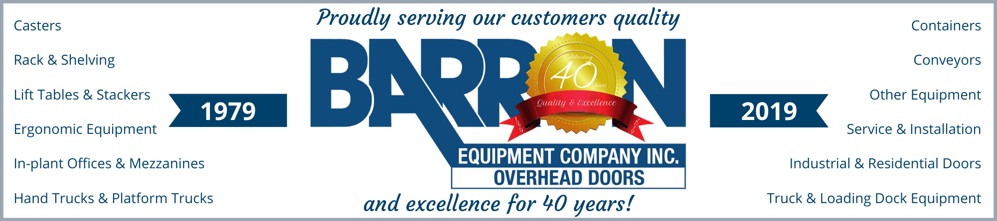 40th Anniversary Email Banner