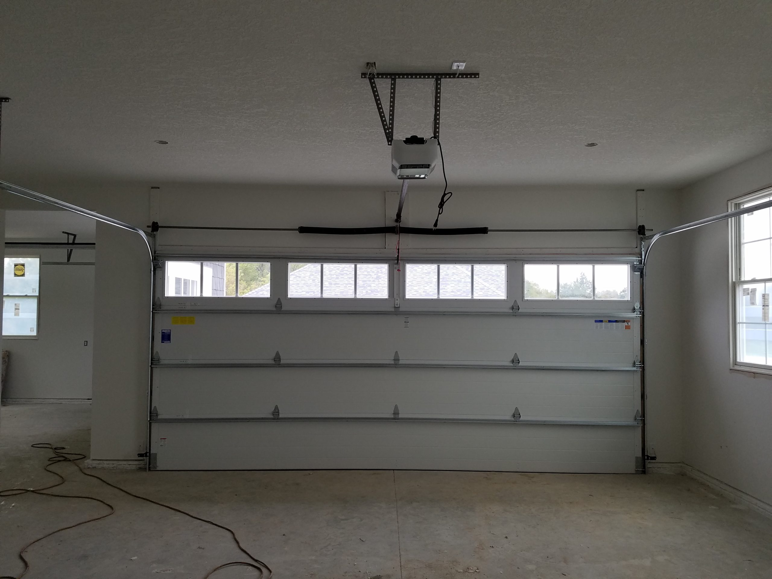 inside garage door