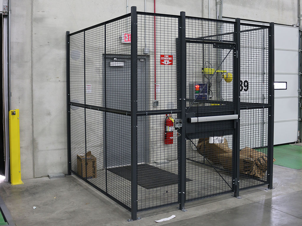 Driver cage with door closed