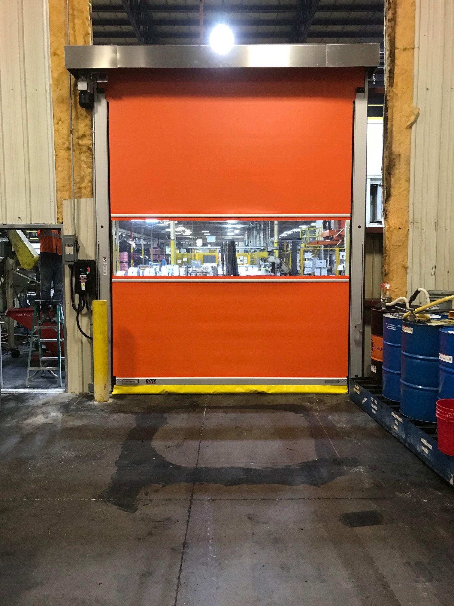 Custom Industrial Door After