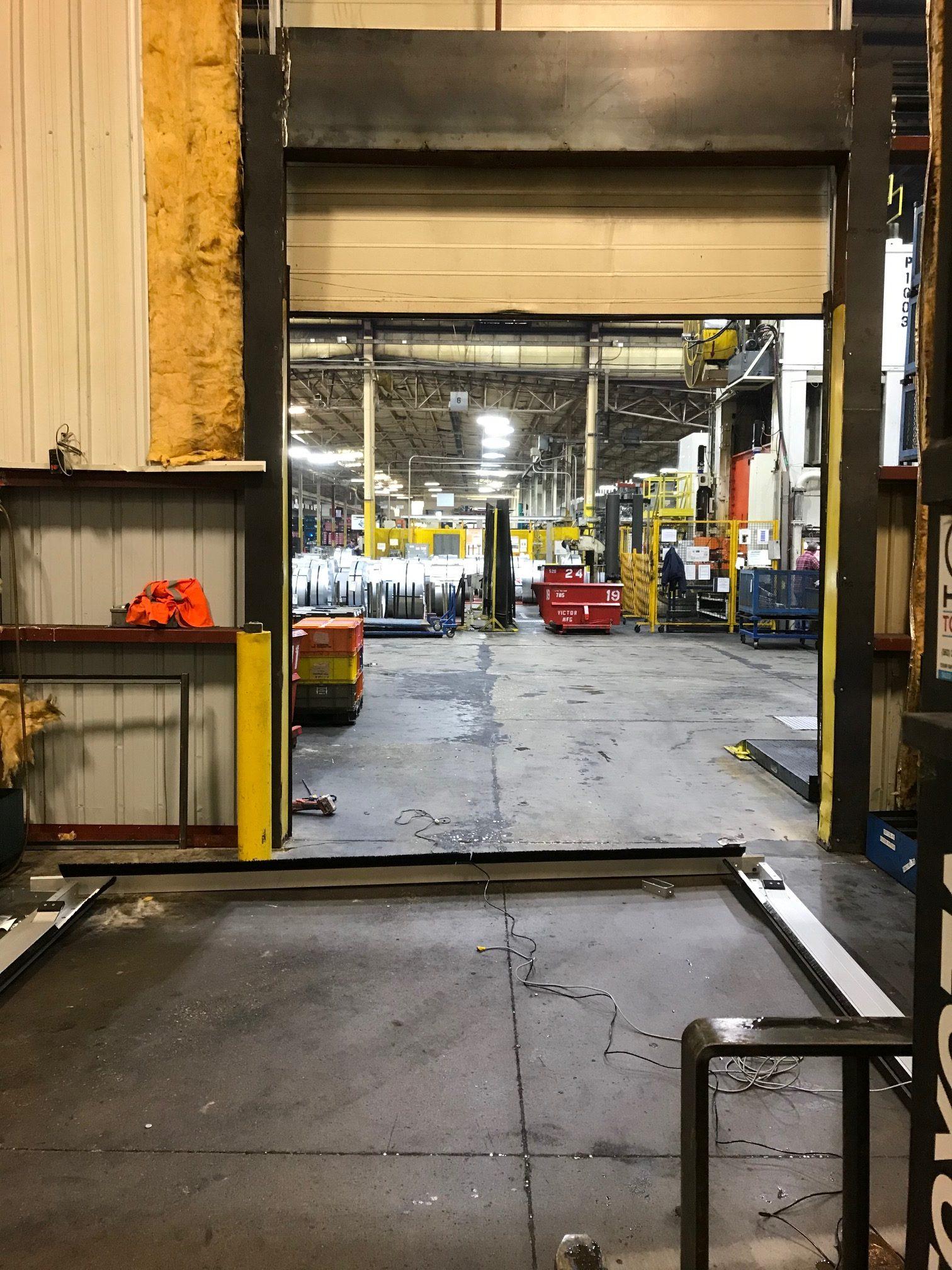 Custom Industrial Door Before