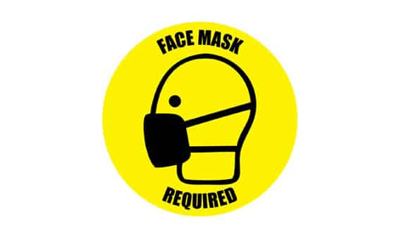 CORONA Circle Face Mask Required en