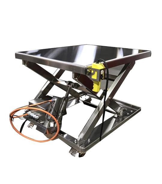 Stainless Steel Electric Lift Tables - Clean Room Complaint