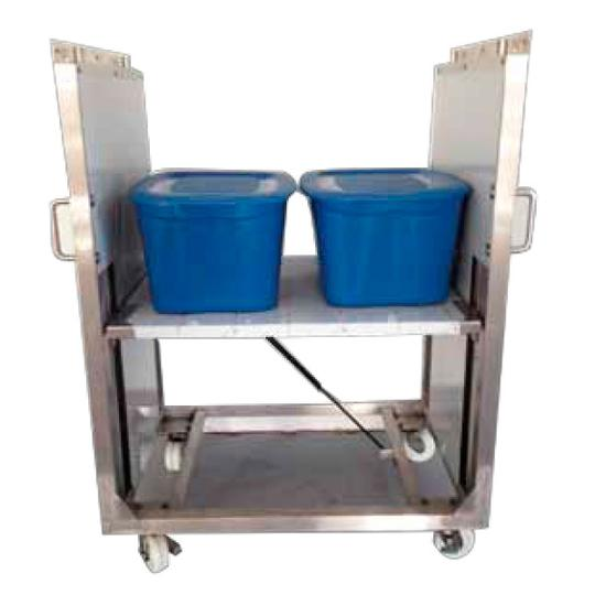 Self Leveling Stainless Steel Clean Room Carts and Hospital Carts