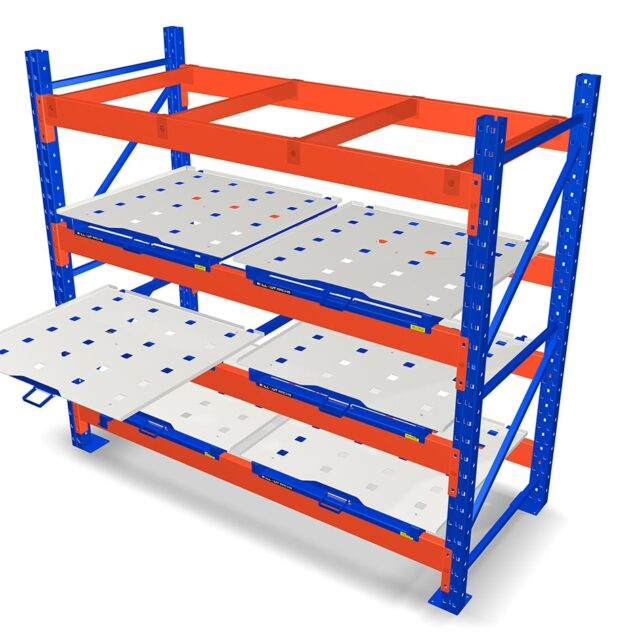 Roll Out Pallet rack mounted